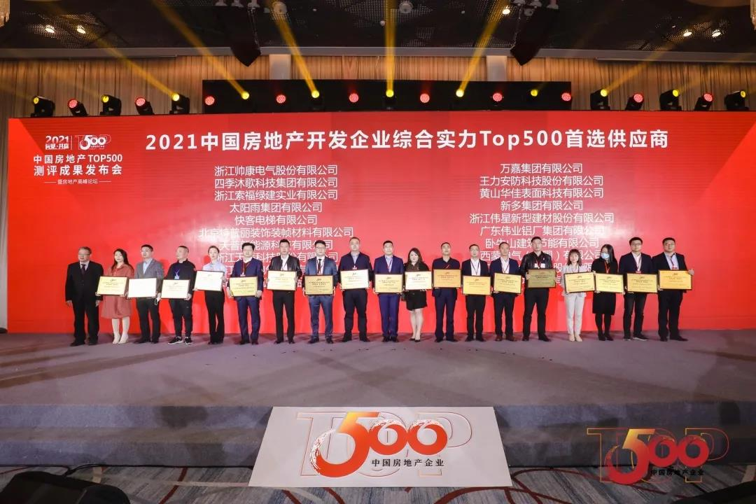 Micoe Won the Top 500 Suppliers of China's Real Estate Development Enterprises in 2021
